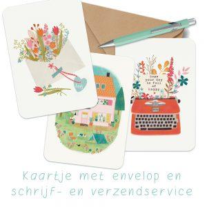 kaartjes met schrijf- en verzendservice